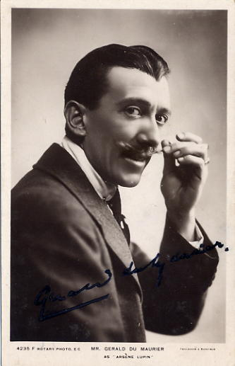 Du Maurier, Gerald - autographed postcard photo SOLD